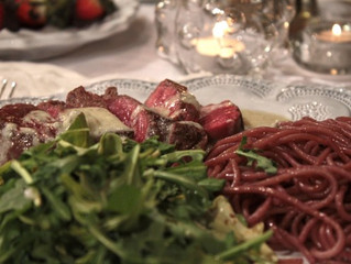 Red Wine Pasta: A perfect Valentine's dinner!