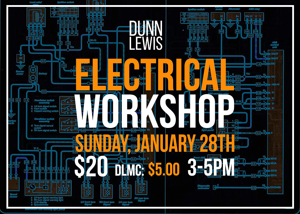 DUNN LEWIS Motorcycle Workshop, Electrical Systems,  DIY Motorcycle Garage