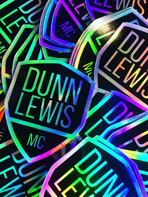 DUNN LEWIS Holographic Shield Sticker