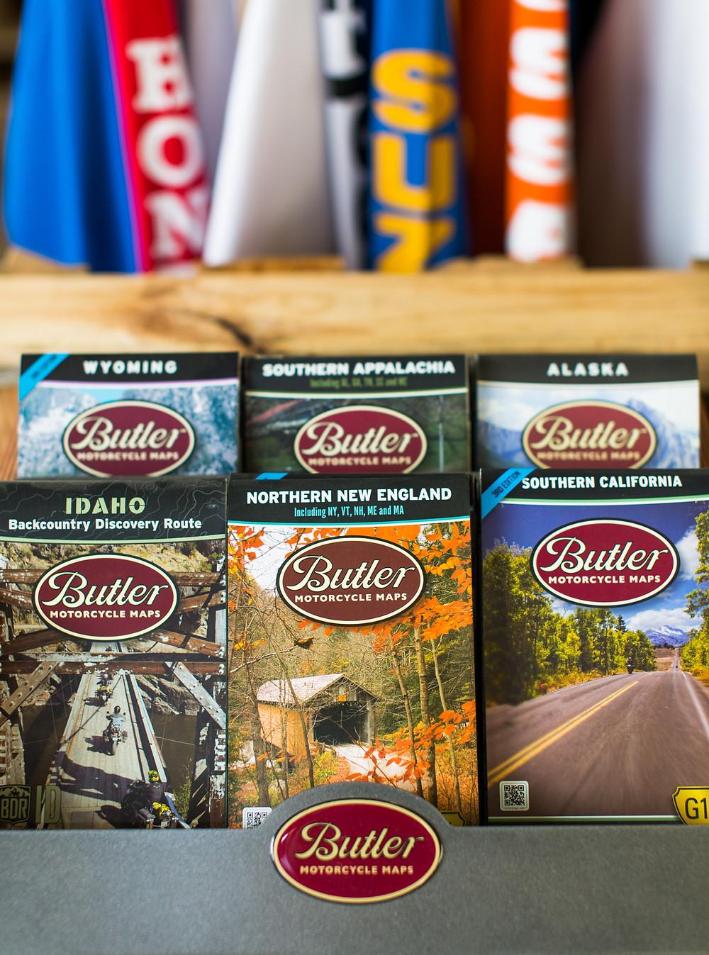 Butler Motorcycle Maps, DUNN LEWIS, Washington DC, Motorcycle Map,
