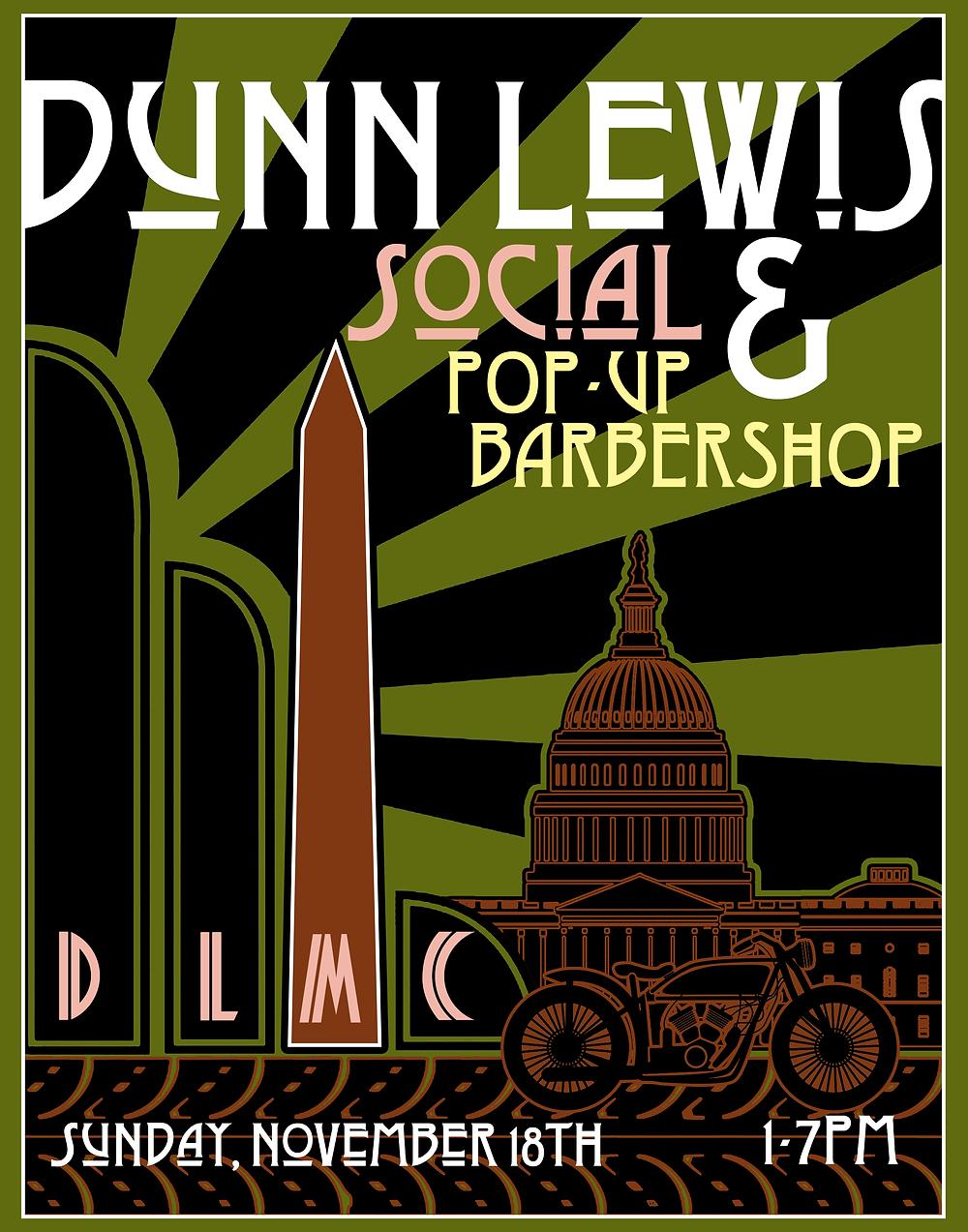 DUNN LEWIS, Motorcycle Shop, Washington DC, Event, DIY Garage, Pop up, barber shop, MotoGP, party
