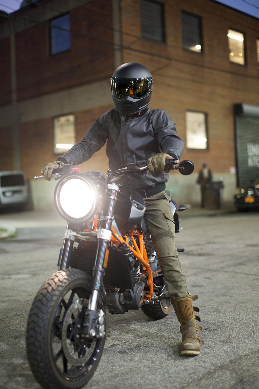 Biltwell Helmet, Roland Sands, Motorcycle Jacket, Motorcycle Pants, KTM, 690 Duke, Custom Motorcycle, Uglybros, ICON 1000, Washington DC, DUNN LEWIS, Motorcycle shop, Motorcycle gear