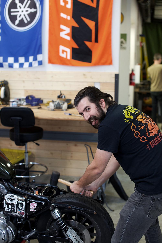 Harley Davidson, DIY Garage, 1200 Sportster, Washington DC, DUNN LEWIS, Motorcycle Parts