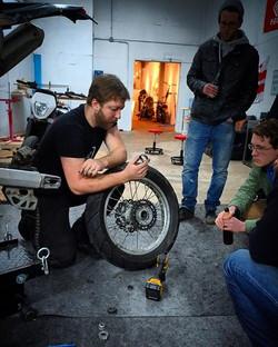 DIY Motorcycle Garage, Workshop,