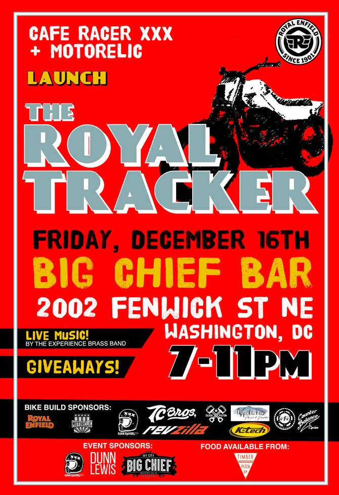 CafeRacerXXX & MotoRelic Launch The Royal Tracker