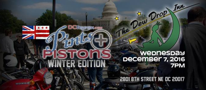 -Dec. 7th- Pints & Pistons w/DC Triumph