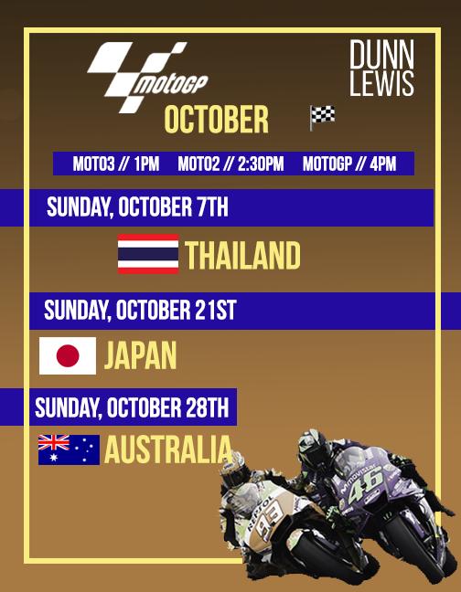 MotoGP : Oct. '18