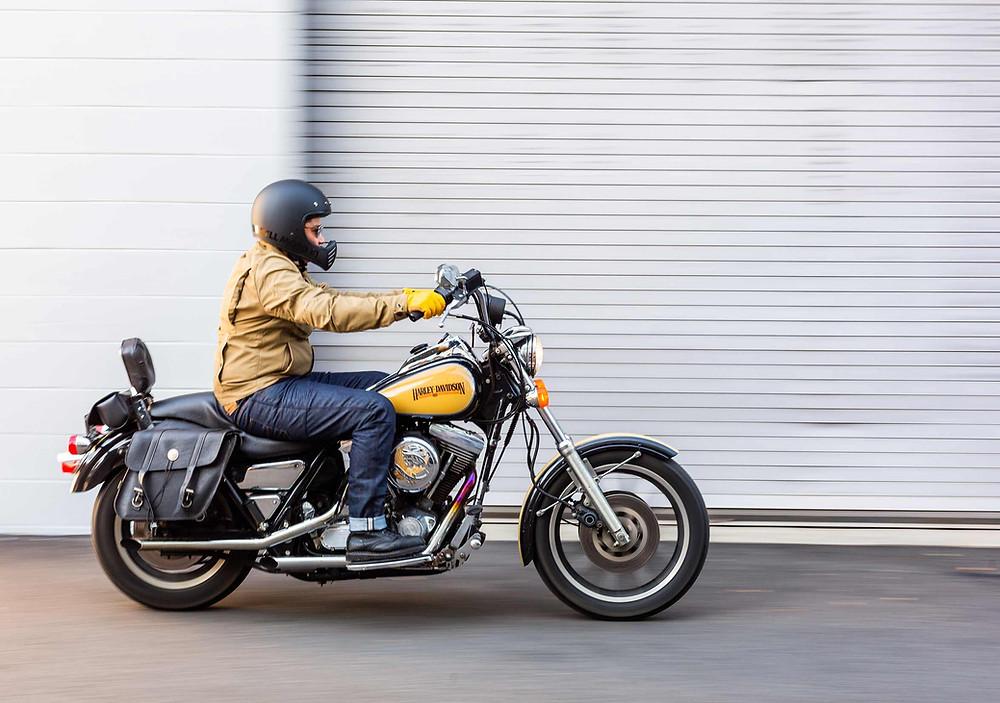 Harley Davidson FXRP Super Glide Rev'it Motorcycle Gear Bell Motorcycle Helmet Washington DC Motorcycle Shop