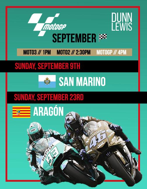 MotoGP : Sept. '18