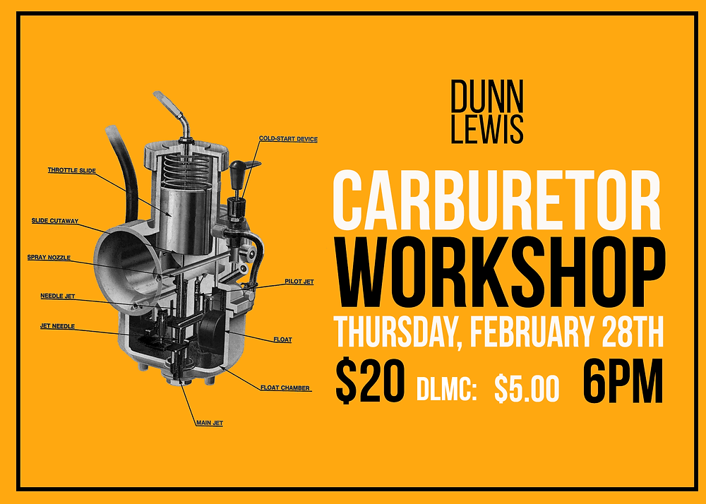 Motorcycle Carburetor, DIY Garage, Vintage Motorcycle, Restoration, Carburetor Service, Carburetor, Mechanical Education, DUNN LEWIS, Washington DC