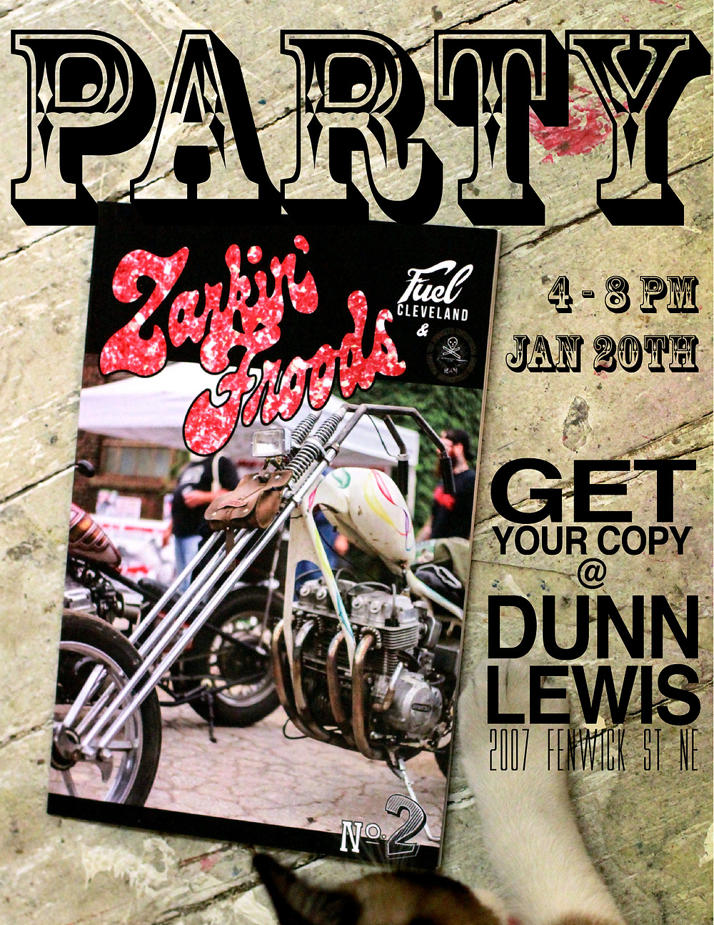 Zarkin Froods Motorcycle Magazine,  Custom Motoryclce, Motorcycle Party