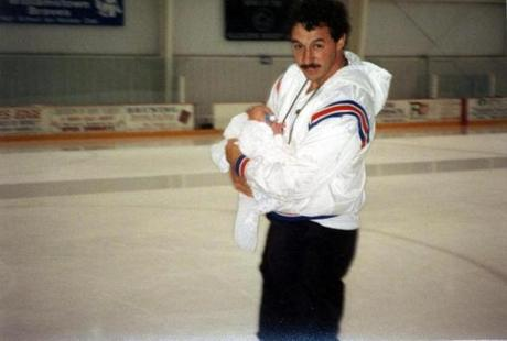 John w/dad on the ice @ Hollydell