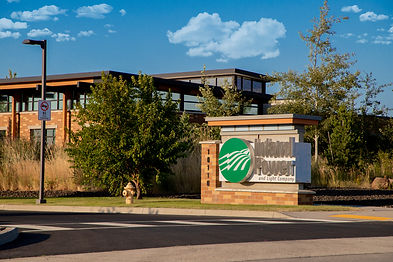 Image of front of Inland Power building with the Inland Power sign.