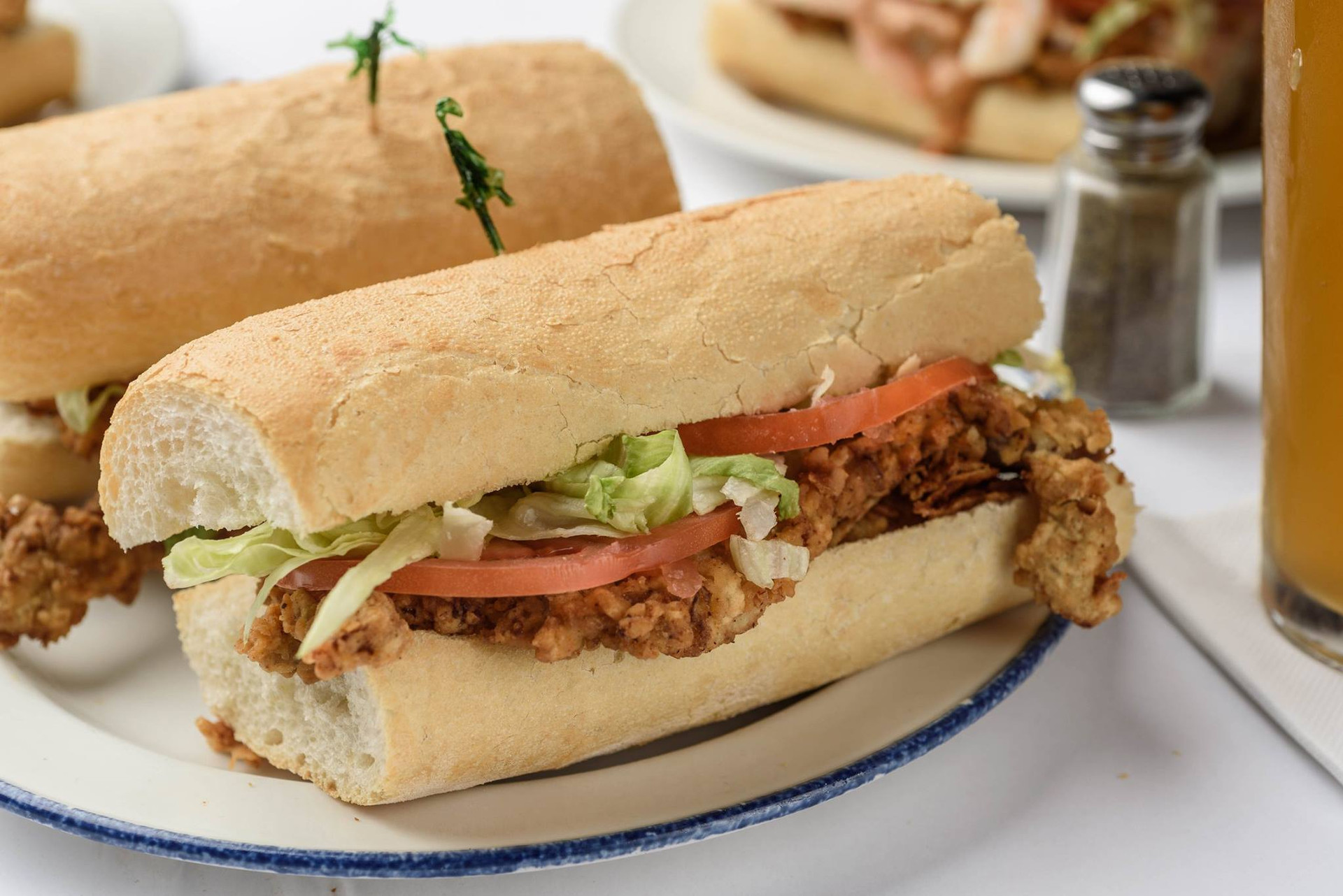 Chicken Fried Steak Poboy