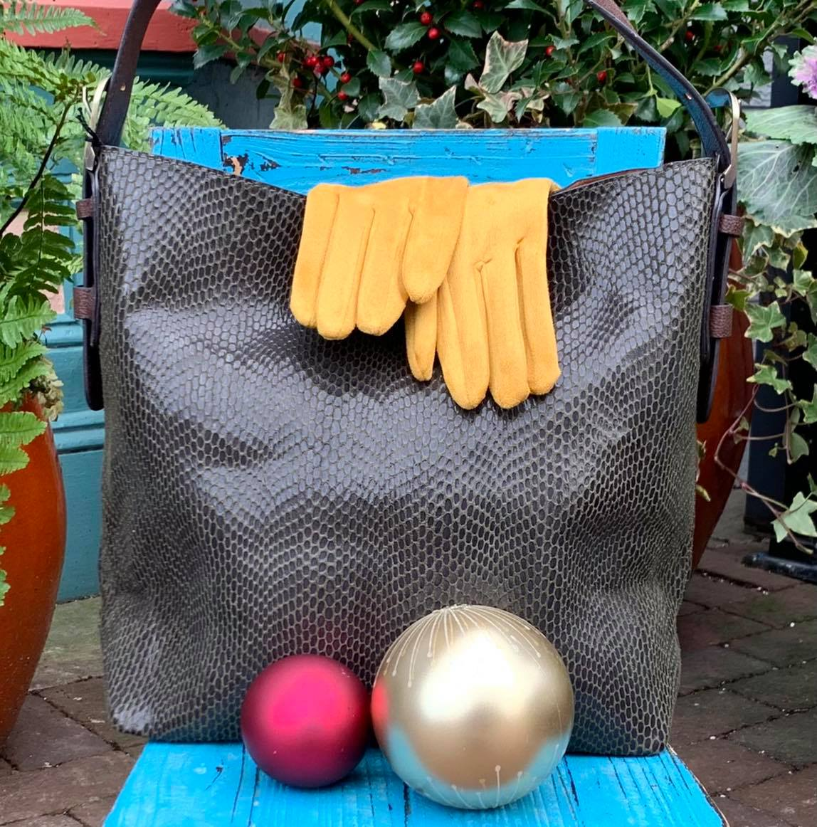 Gloves and bag