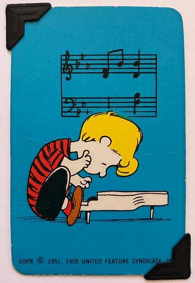 Schroeder Peanuts Greetings Card