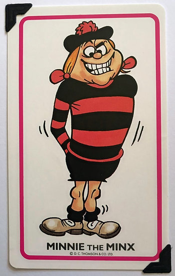 Minnie The Minx Greetings Card