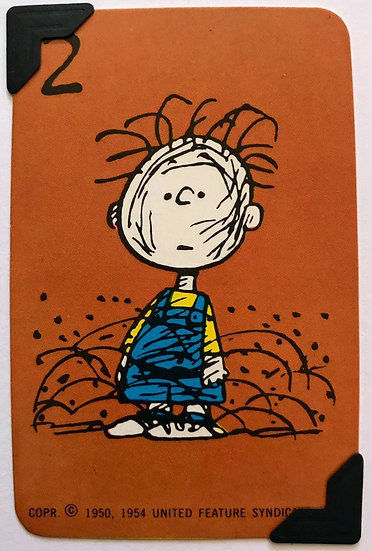 Pig-Pen Peanuts Greetings Card