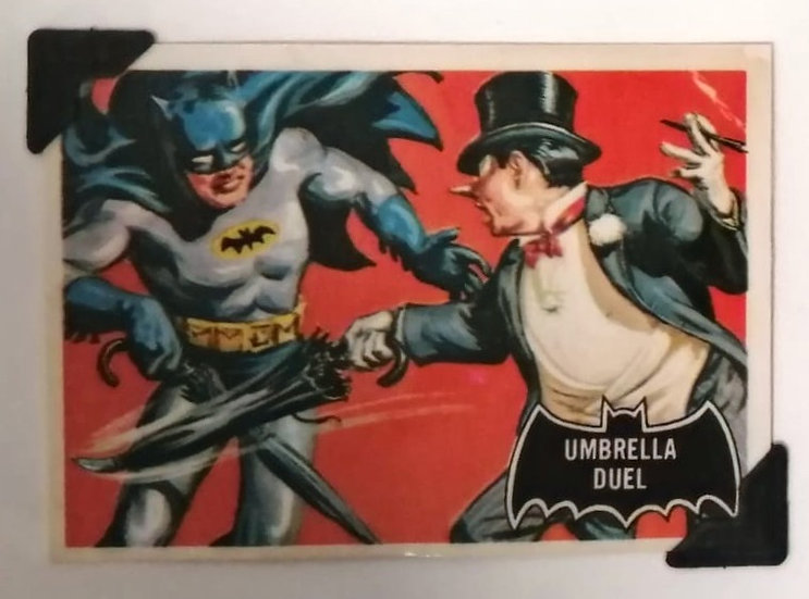 Umbrella Duel Batman Penguin Greetings Card