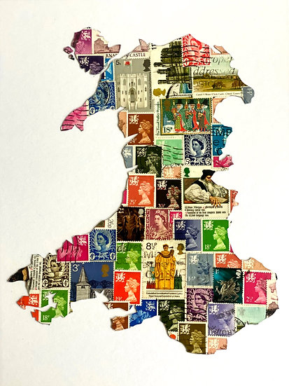 Stamp Map of Wales