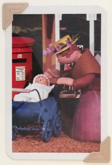 Mrs. Honeyman & baby Honeyman Greetings Card Camberwick Green