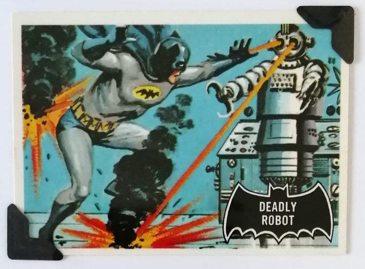 Batman and Robot Greetings Card