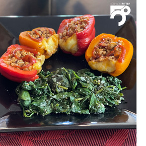 Healthy Turkey Stuffed Bell Peppers