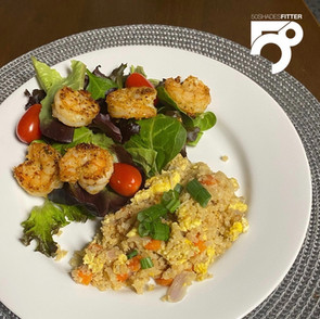 Citrus Garlic Shrimp with Vegetable Cauliflower Rice