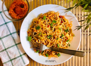 Spicy stir fried noodles: