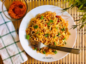 Spicy stir fried noodles: