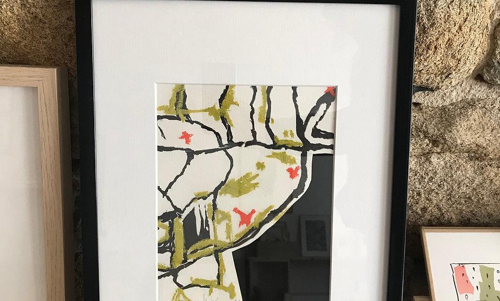Linogravure et Collage
