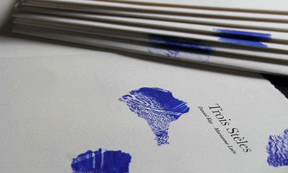 """""""Trois Stèles"""" - Livre d'artiste"""