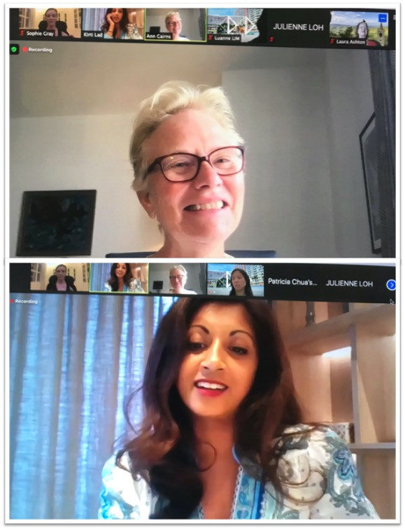 Ann Cairns and Kirti Lad on the Women's Directorship Programme Alumni Network Webinar