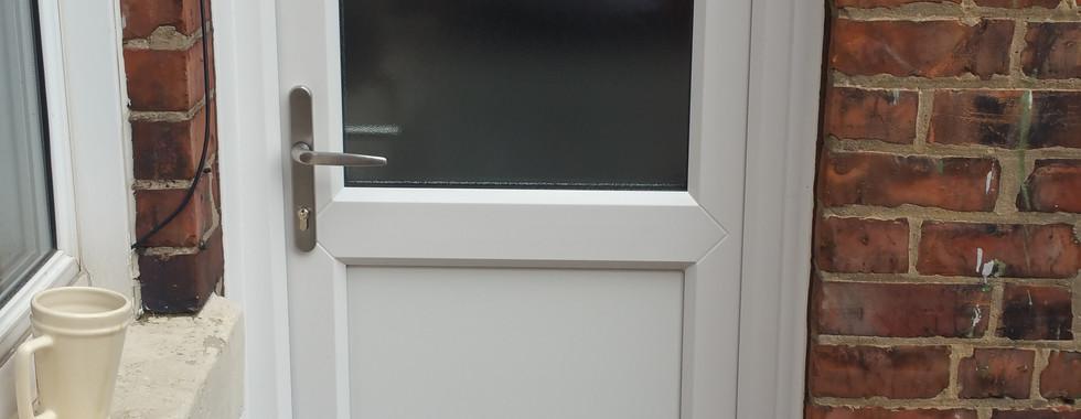 Simple uPVC Door. The best way to fit a secure door on a budget.