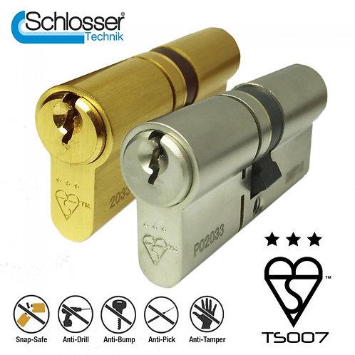 Schlosser Technik 3 Star Ultimate Pro Kitemark TS007 Approved Euro Cylinder