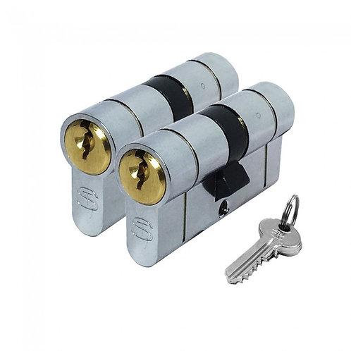 Standard Euro cylinder Keyed alike pair