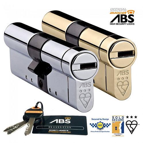 ABS 3 Star British Standard Kitemark Euro Cylinder Lock - Avocet ABS Cylinders