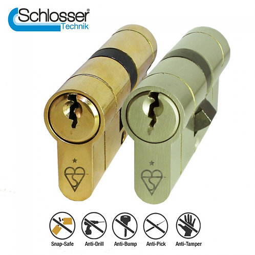 Schlosser Technik 1 Star Kitemark TS007 Approved Euro Cylinder