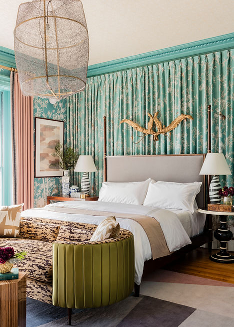 Boston Junior League Show House master bedroom designed by Robin Gannon Interiors