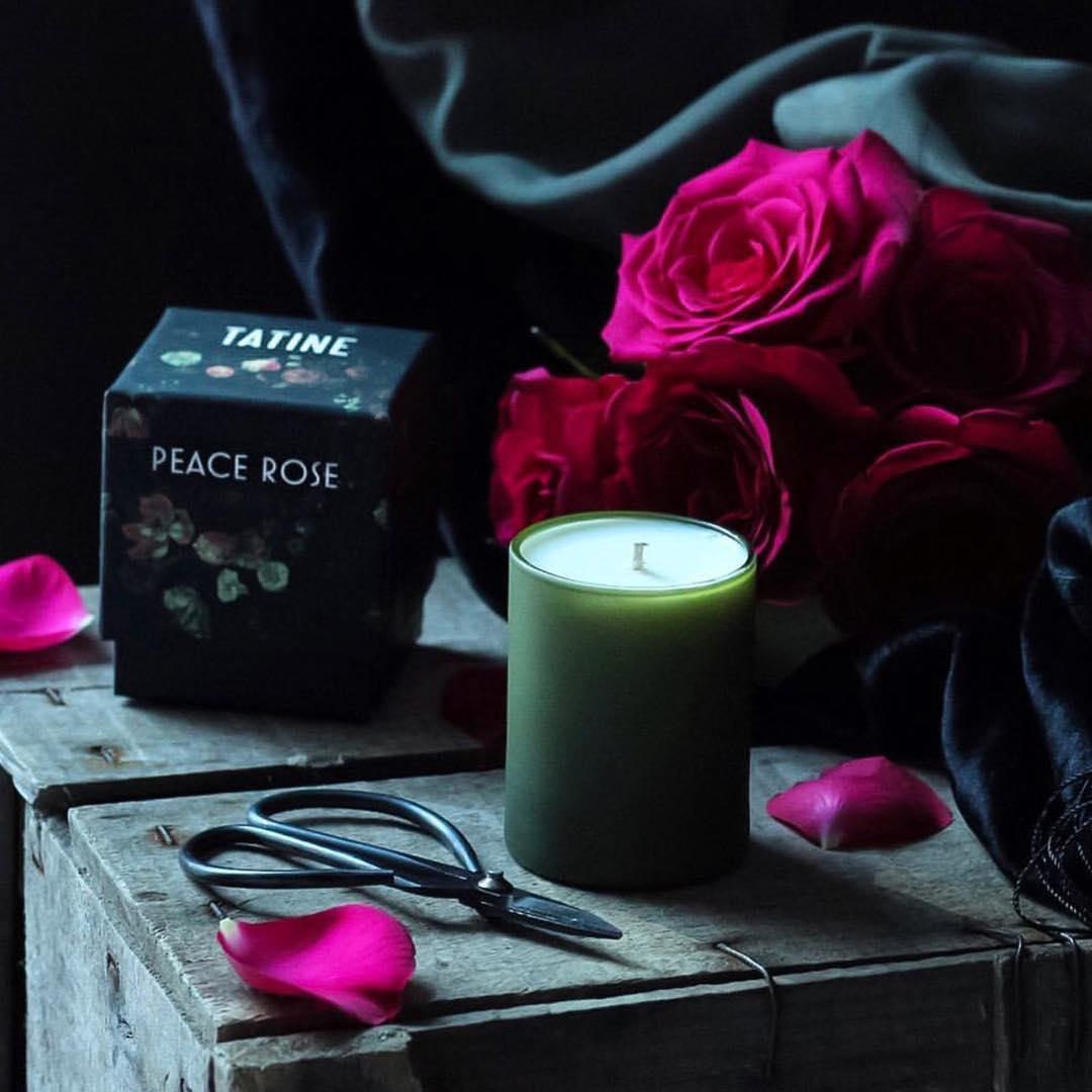 Tatine Peace Rose Candle
