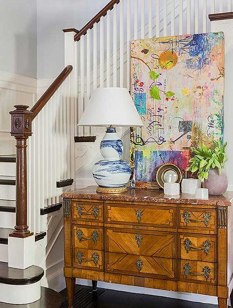 Foyer designed by Robin Gannon Interiors