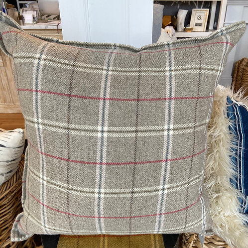 Ryan Studio Alexander tartan griege pillow