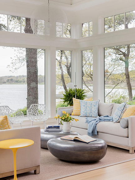 Cape Cod Modern sunroom designed by Robin G