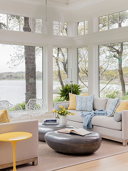 Cape Cod Modern sunroom designed by Robin G