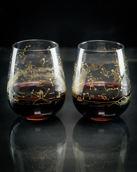 Night Sky Wine Glass Set
