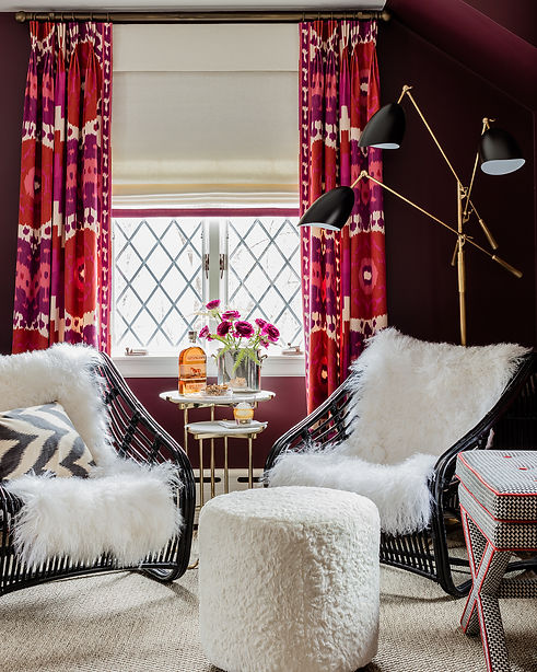 Bold living room sitting area designed by Robin Gannon Interiors