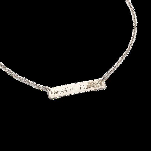 Lotus Jewelry Lexington Latitude Longitude Necklace