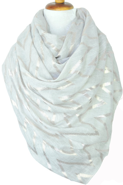 Paisley Road gray scarf with chevron