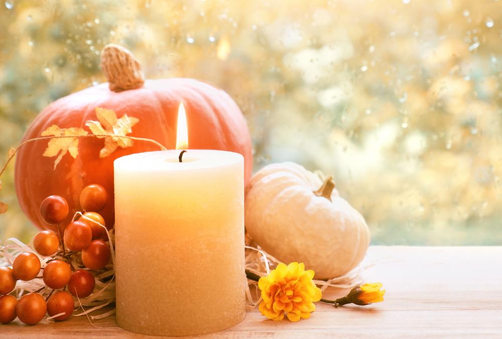 fall candles at Robin Gannon Interiors
