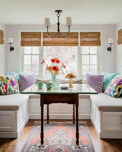 Kitchen banquette designed by Robin Gannon Interiors